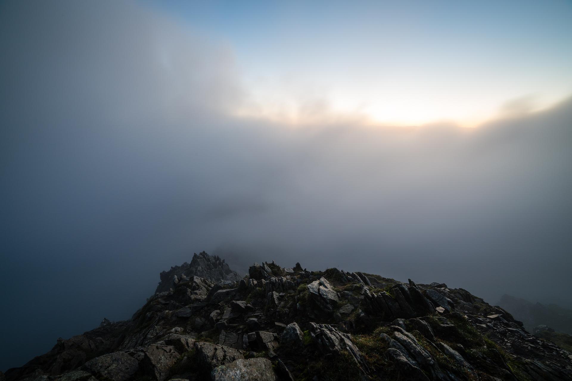 Horizon through the clouds