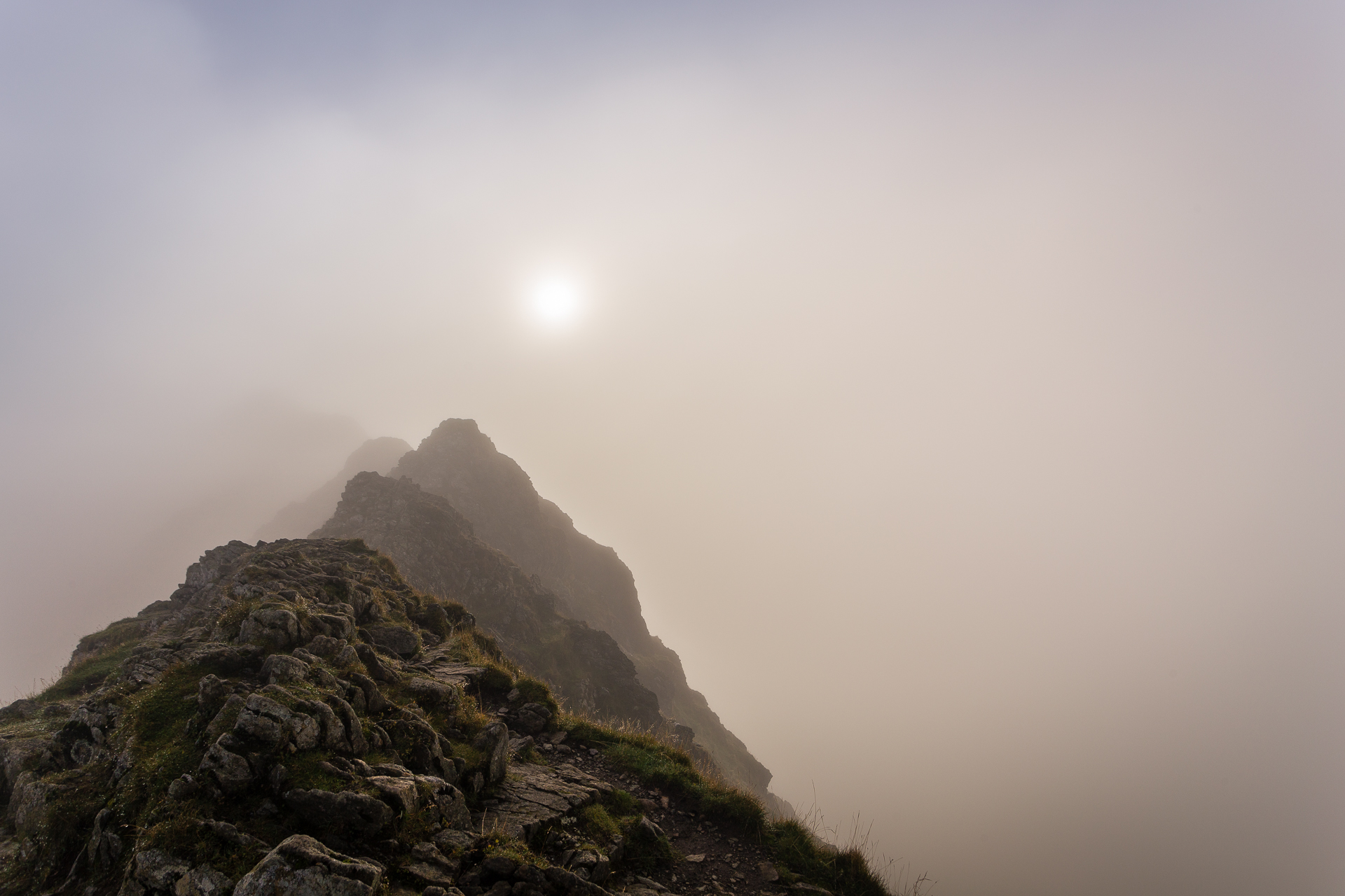Striding Edge in the cloud