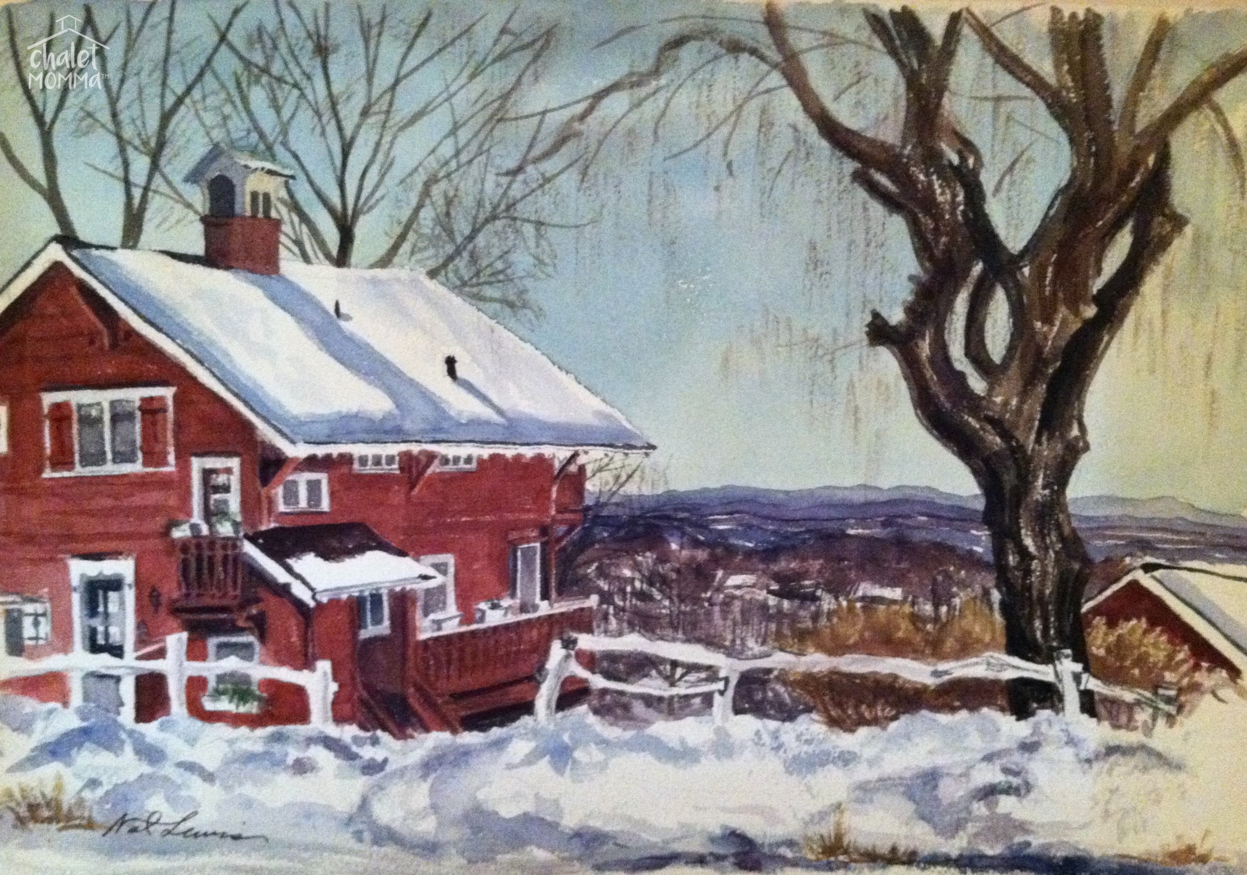 This amazing 1968 watercolor by Nat Lewis was presented to the King family, by the daughter of a former owner.