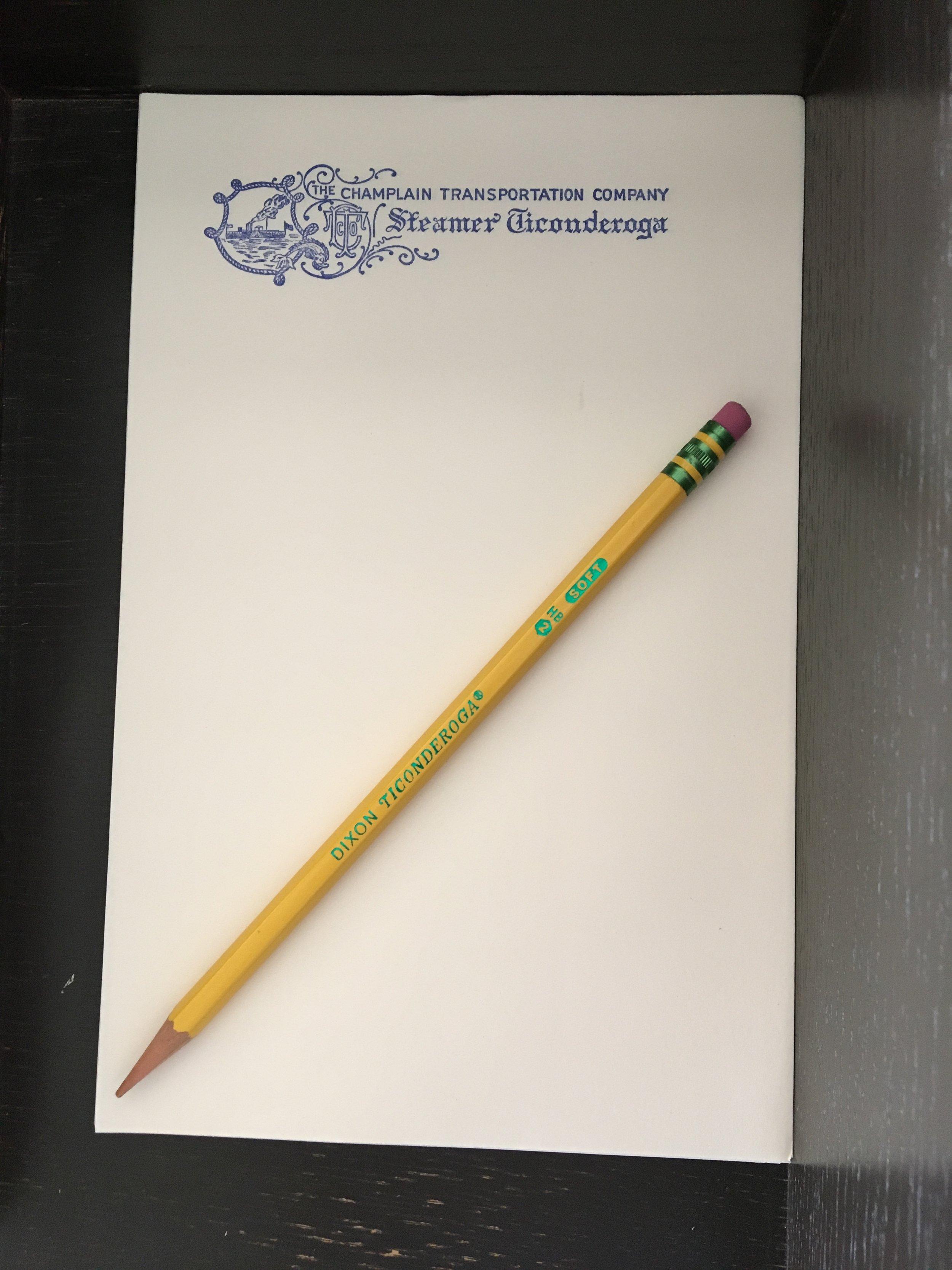 the ticonderoga pencil and paper .JPG