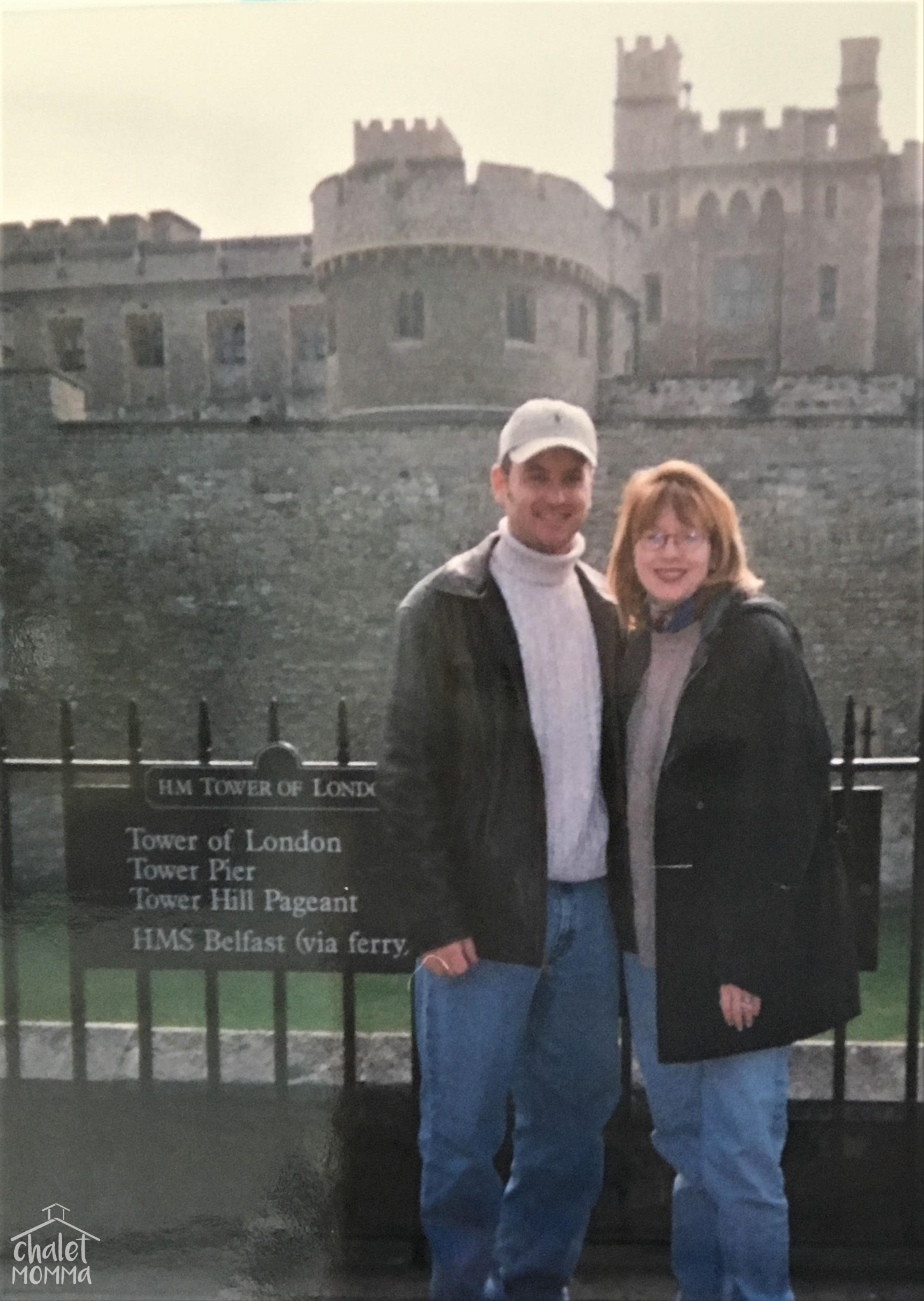 At the  Tower of London on Our Honeymoon  October 9, 1998.