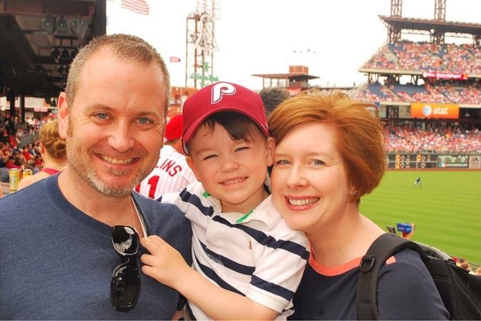 Liam's first  Phillies Game  June 14, 2014. The day Jimmy Rollins hit for the Franchise Record.