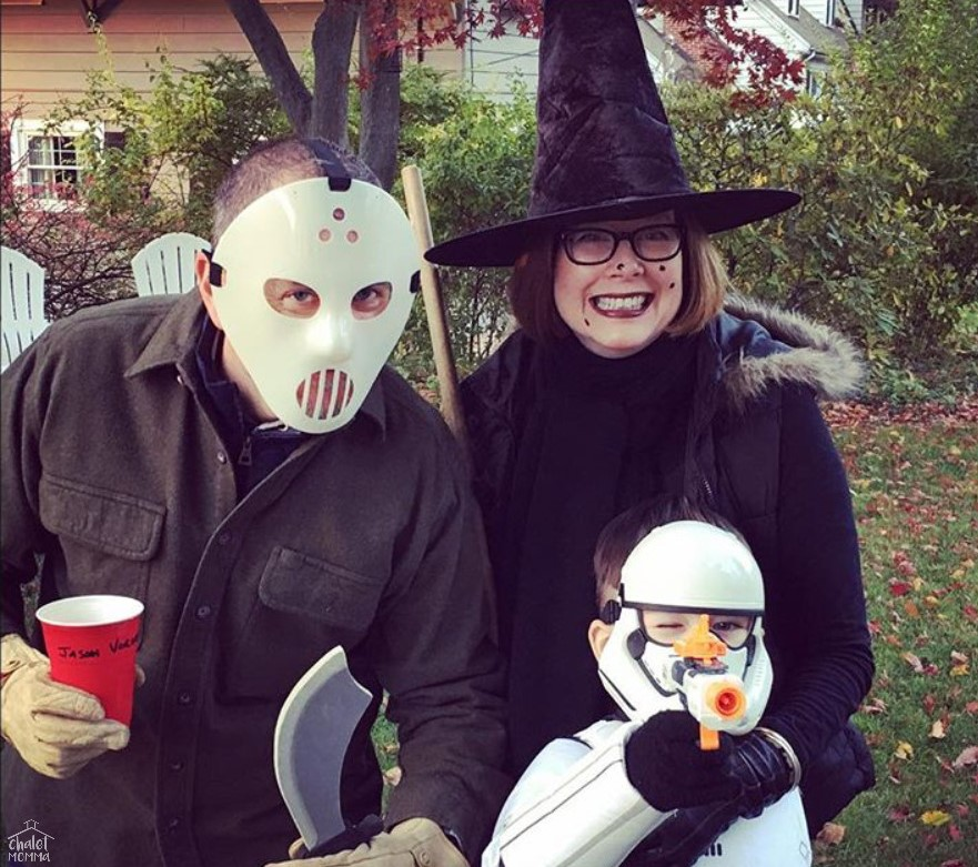 Jason Voorhees, A Warty Witch and a Stormtrooper 2016.