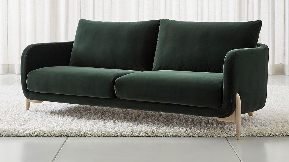 Jenny Green Velvet Sofa