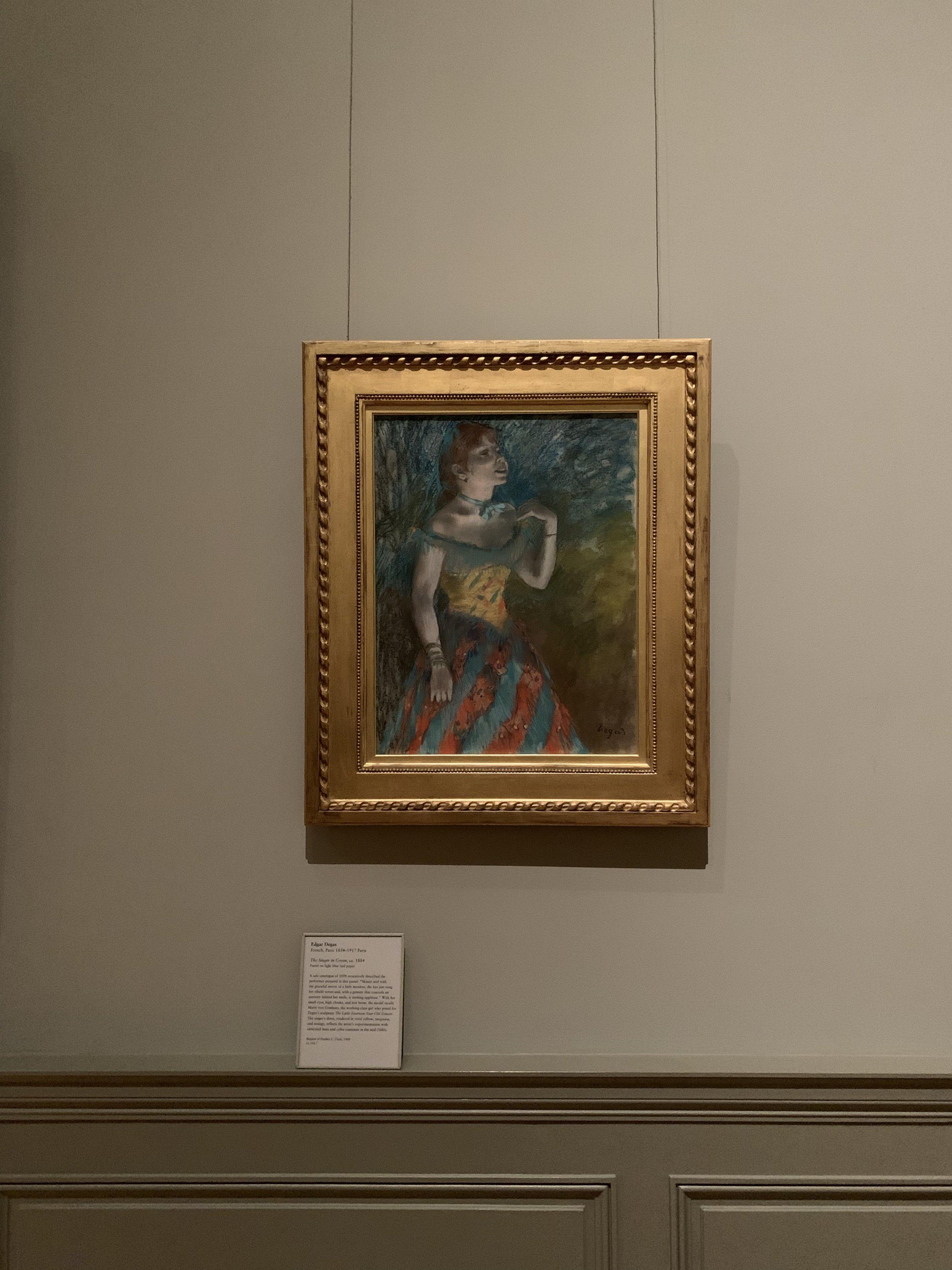 Edgar Degas/ The Singer In Green