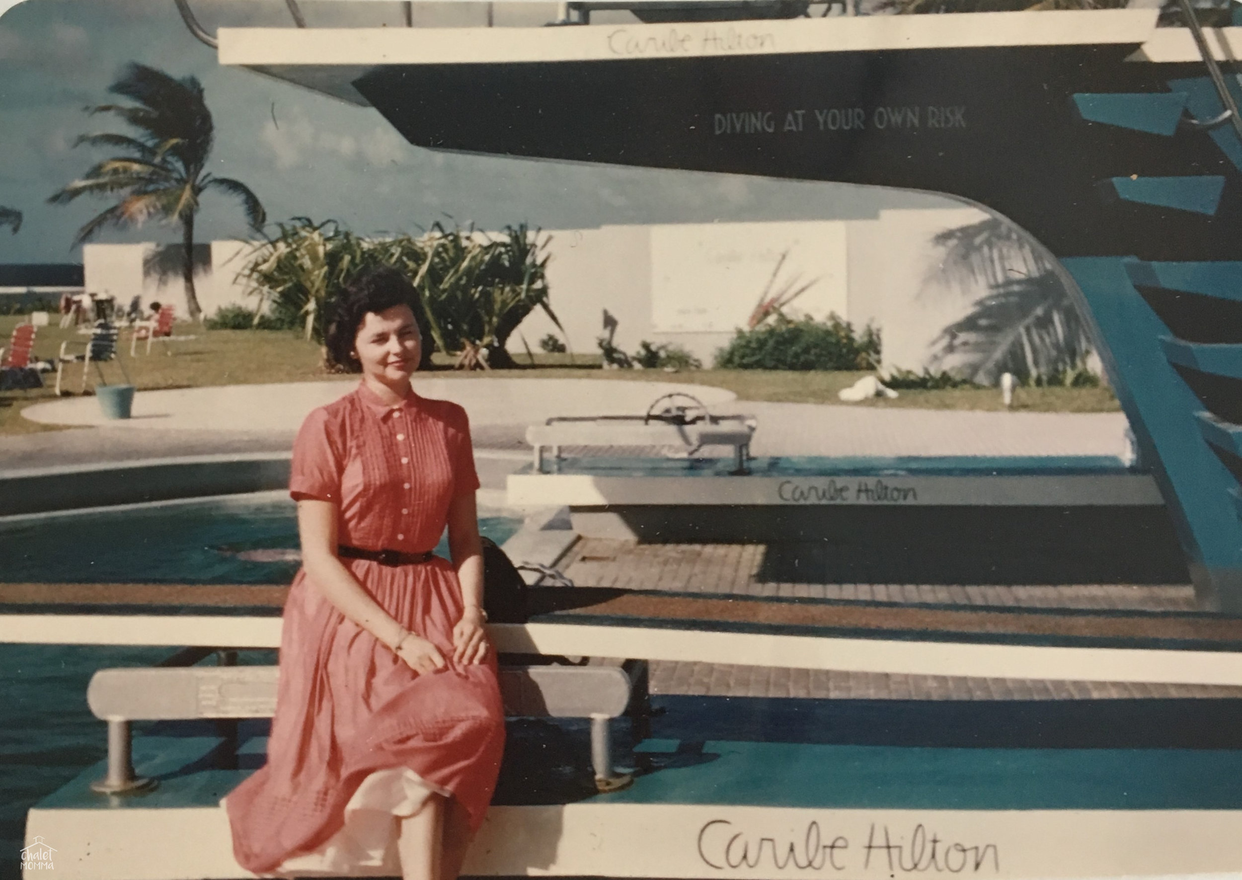 Staying at the Caribe Hilton in San Juan, Puerto Rico 1953.