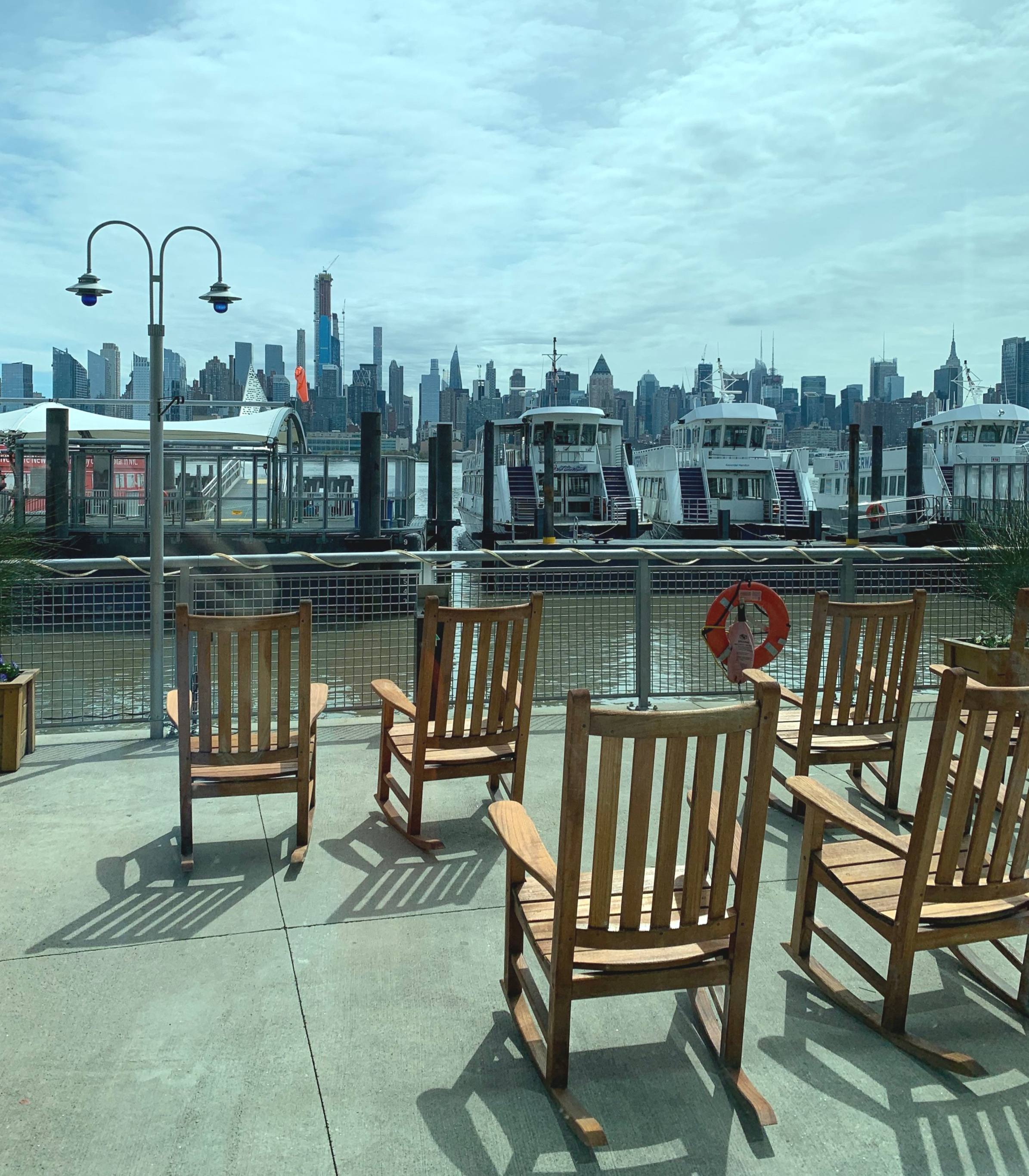 Waiting for the Ferry in Weehawken, NJ