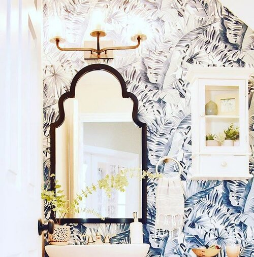 Powder room in previous house
