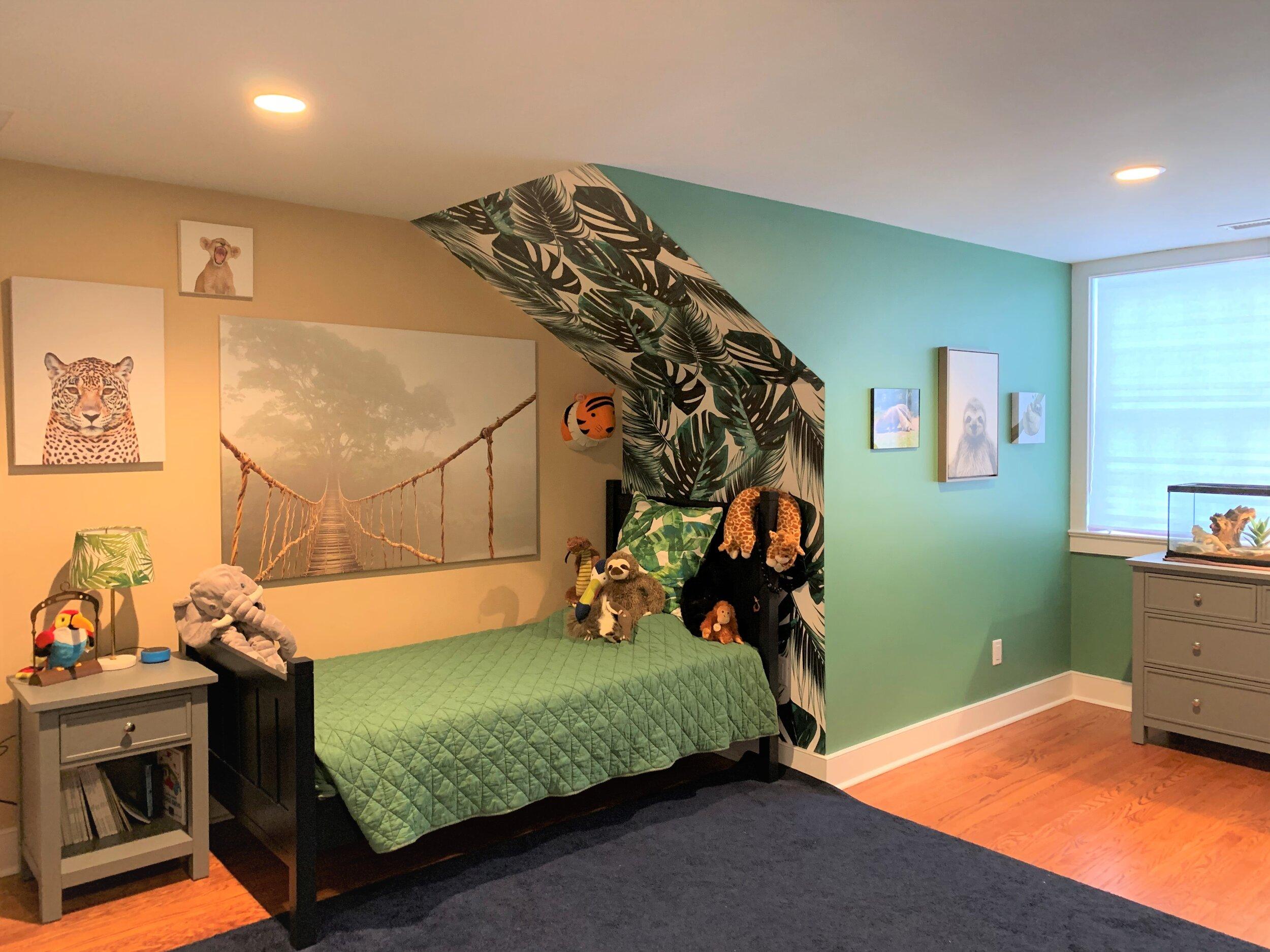 Art installation in a little boys room