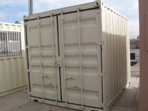 10 foot steel storage containers custimized come with paint standard, perfect for residential or on-site storage in tight spaces.