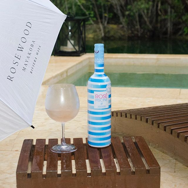 What an amazing place to enjoy Rosé Piscine!  @rwmayakoba #rosepiscine