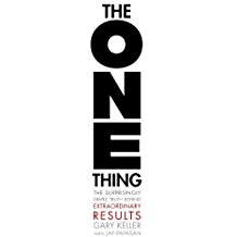 - The One Thing | Gary KellerIn The ONE Thing, you'll learn to * cut through the clutter * achieve better results in less time in  every area of your life--work, personal, family, and spiritual. WHAT'S YOUR ONE THING?