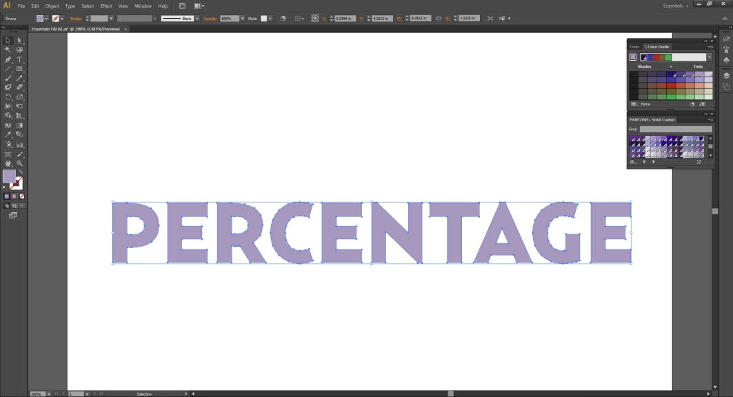 To change the tint of a spot color in Illustrator, use the color guide tool.