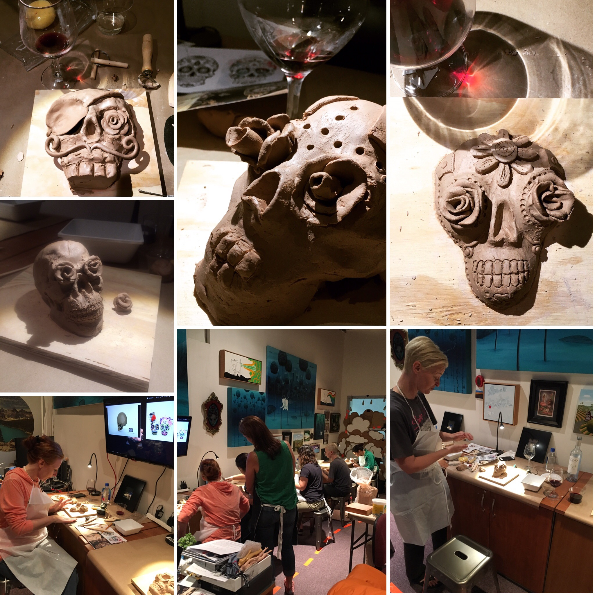 workshop in progress - No Experience NecessaryWe supply: The Instruction The Motivation Water based clay Clay tools (you can keep) Snacks (cheese board, bread, crackers, fruit, veggies and chocolate) The Wine Apron Non-alcoholic beverages and a great time!