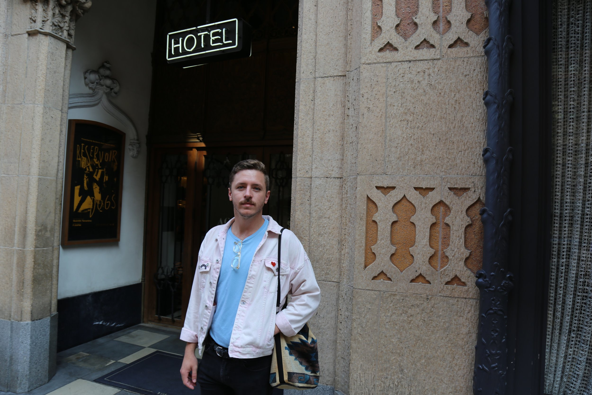 Arriving at Ace Hotel.