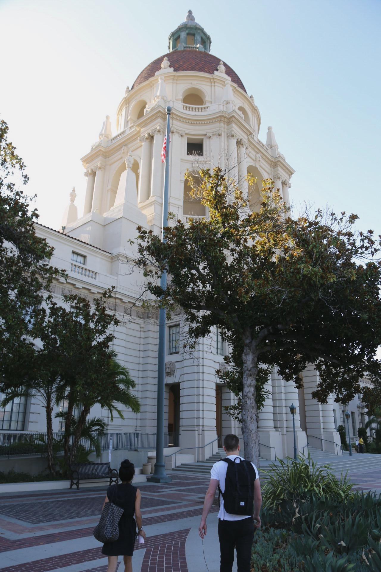 Passing through City Hall in Pasadena.