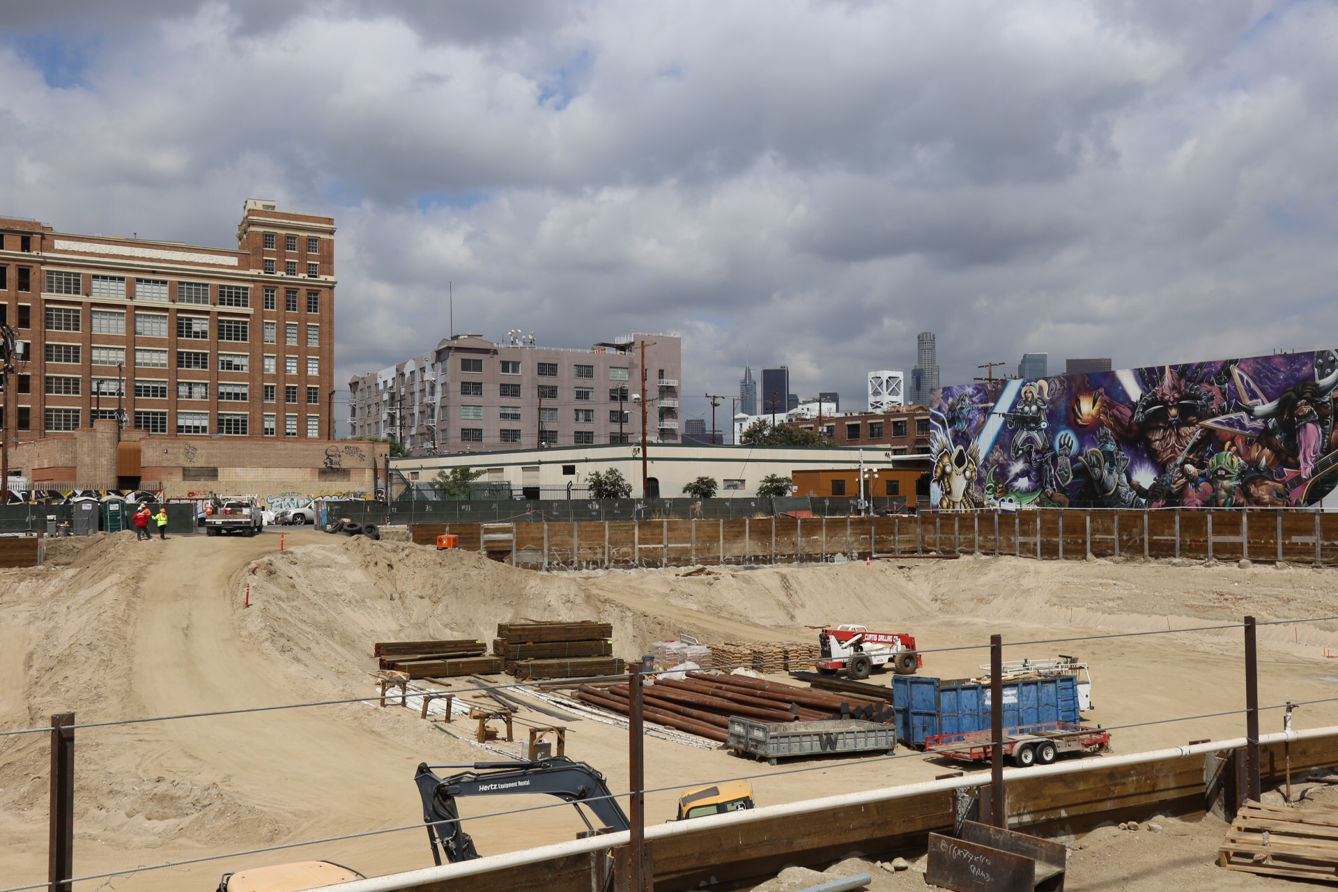 One of the many construction sites in the ever-expanding Arts District.