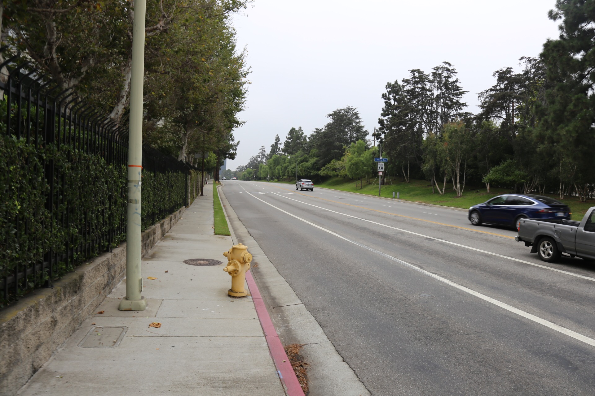 The 20 minute walk from Pico on Centrury Park E to Century City isn't exactly pedestrian or bike friendly.
