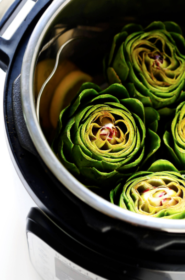 Instant Pot Steamed Artichokes -