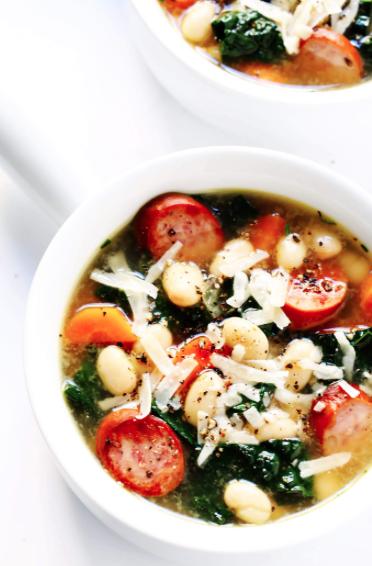 Tuscan White Bean, Sausage and Kale Soup -