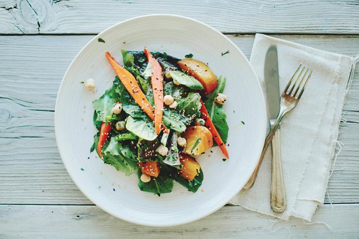 Glazed Beet + Carrot Salad -