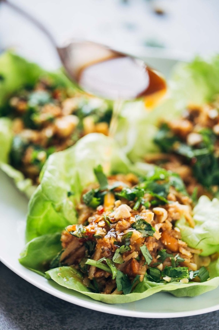Asian chicken lettuce cups -