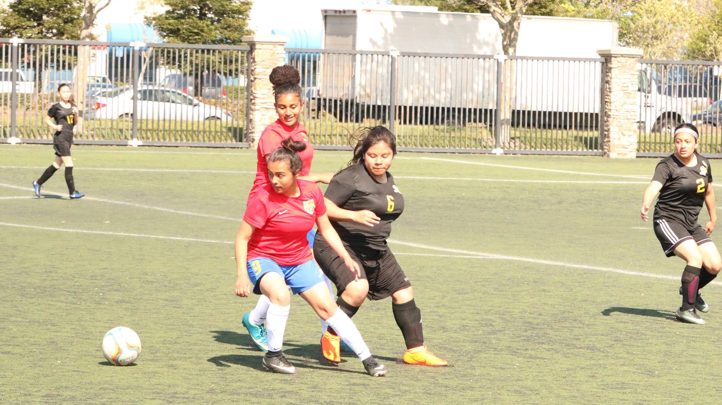 #9 Vanessa Rivas scored her fifth goal of the season.