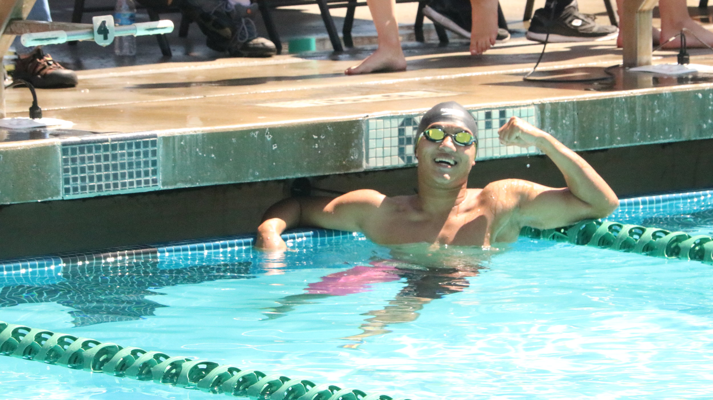 S.E.A. Eagles Senior Aiden Yip ended the day with a gold, silver, and bronze medal and a trip to the CIF State Championships.