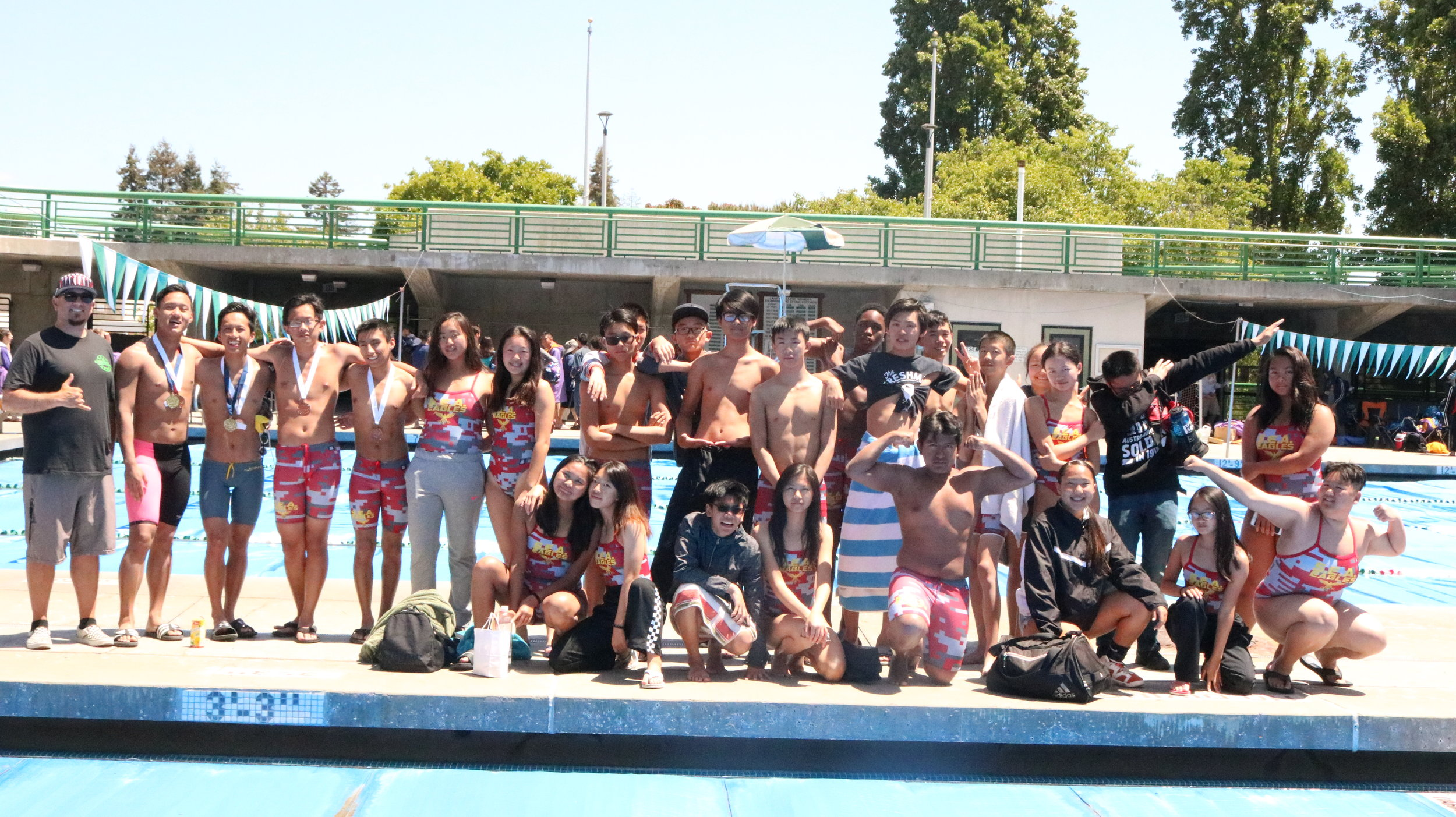 The 2018 AIPHS S.E.A. Eagles finished 2nd and 3rd in the CIF-Oakland Section Boys and Girls Swimming Championships,respectively.