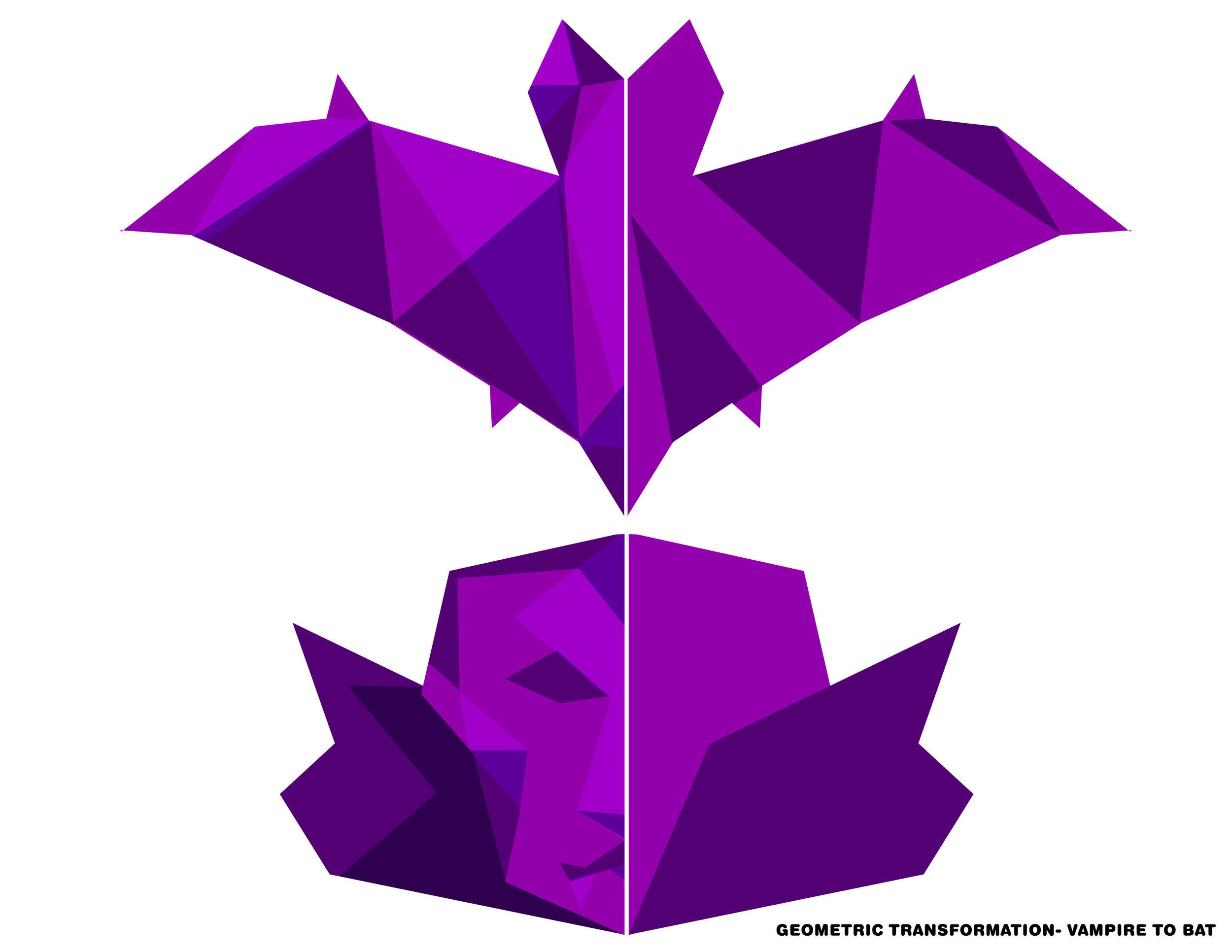 Halloween geometric transformation concept