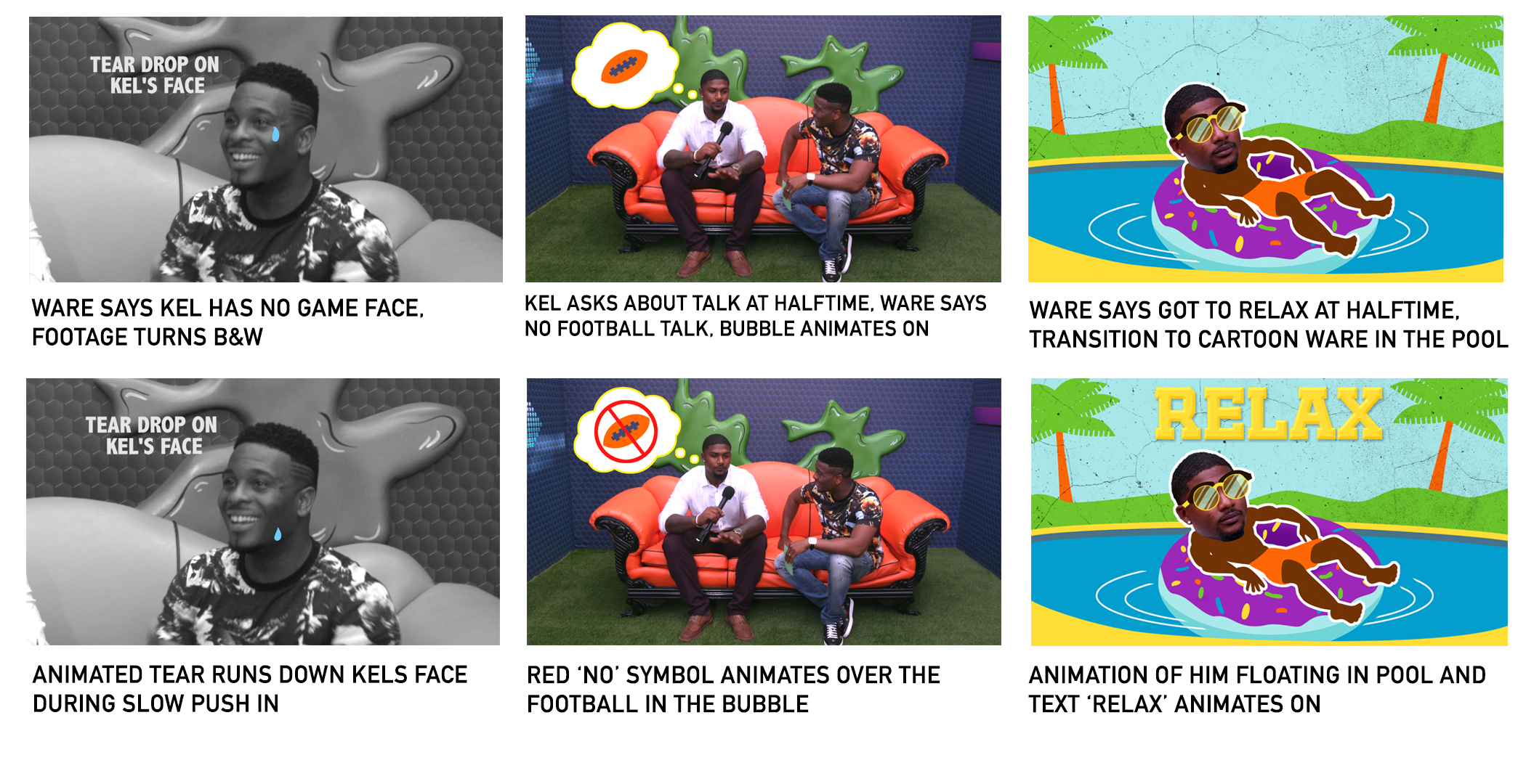 Boards for Nick Sports animation enhanced on-air promo