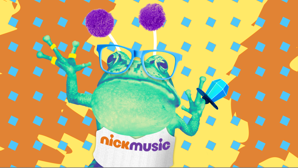 Tritone Frog design / animation for NickMusic ID animation