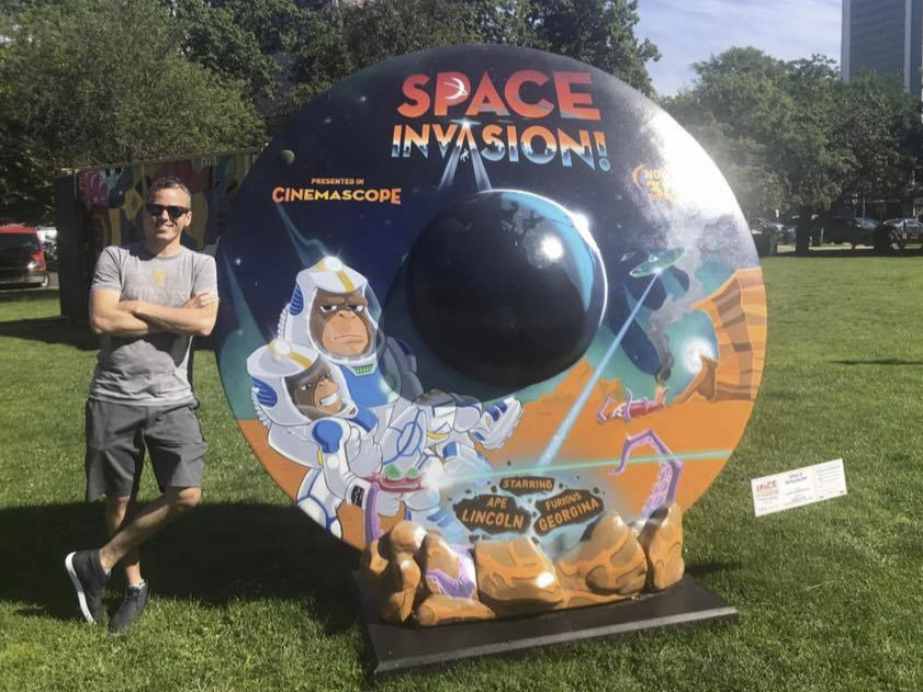 Creative Director of 'Space Invasion! A 2019 Public art exhibit in Stamford, CT.