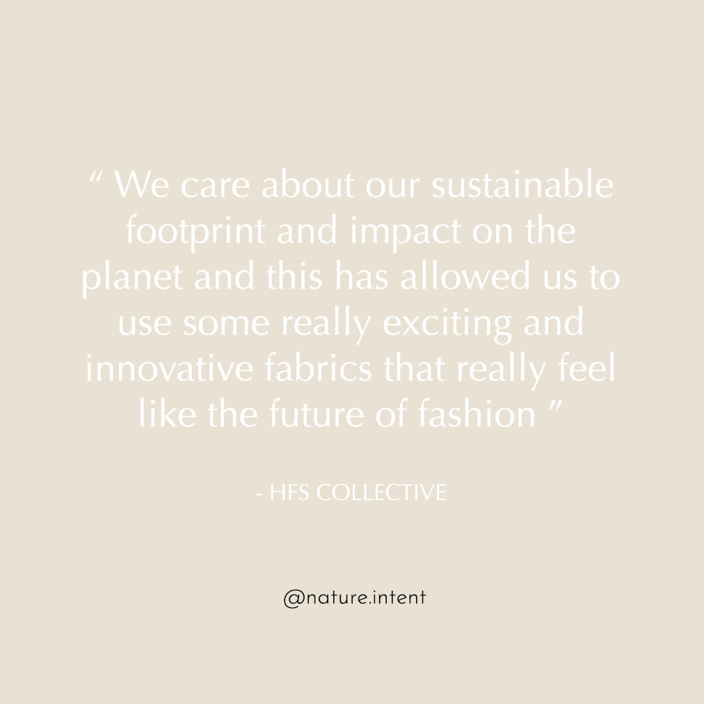 HFS Collective | Sustainable Fashion | Hand Free Bags | Sustainable Footprint Quote