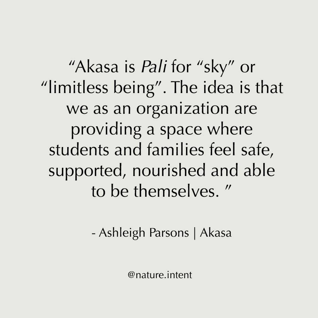 Ashleigh Parsons Quote | Akasa Community | Nature and Intent Feature
