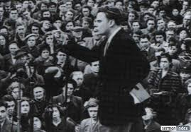 Billy Graham preaching to crowds