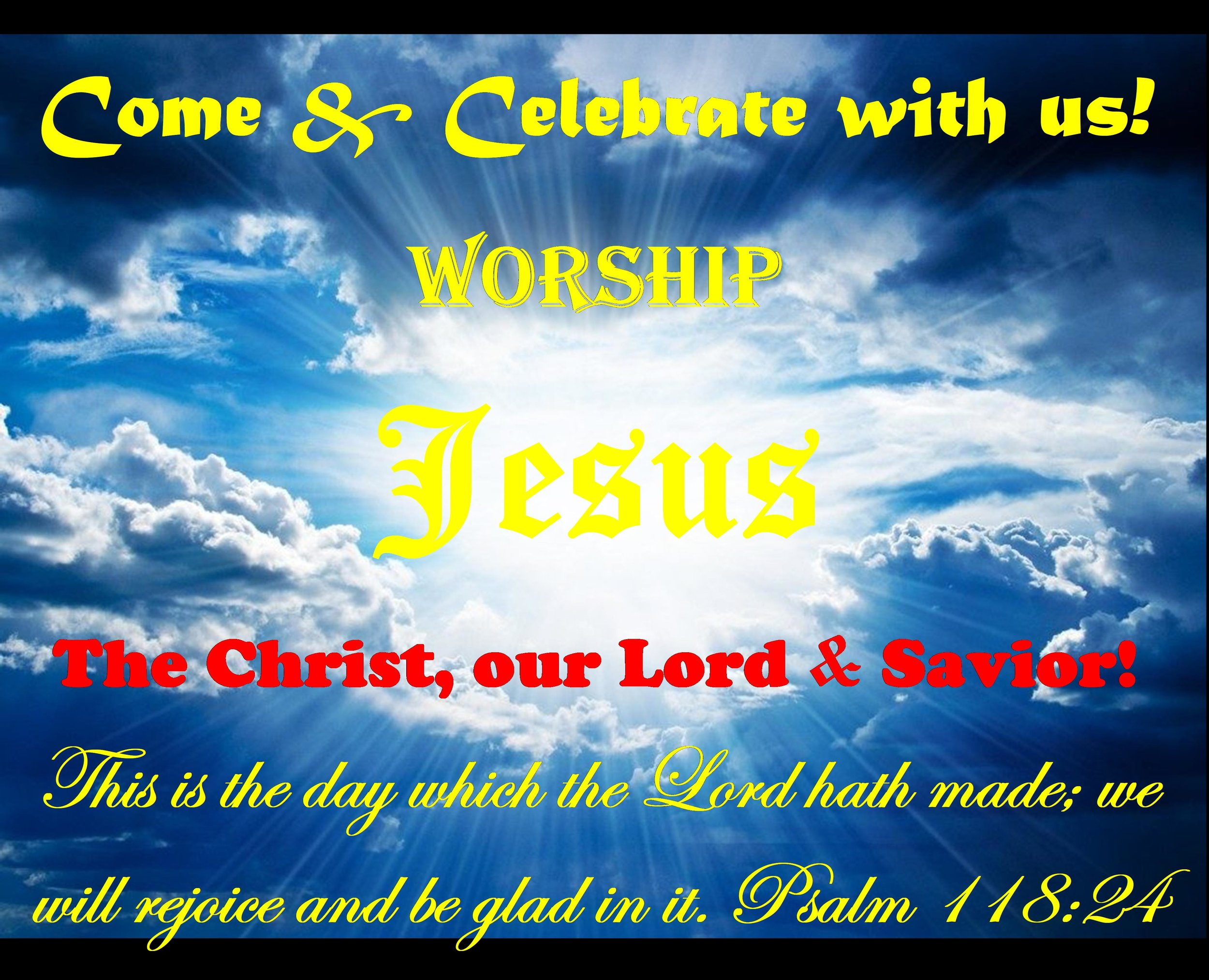 SUNDAY WORSHIP SERVICE @ 10:30 a.m.