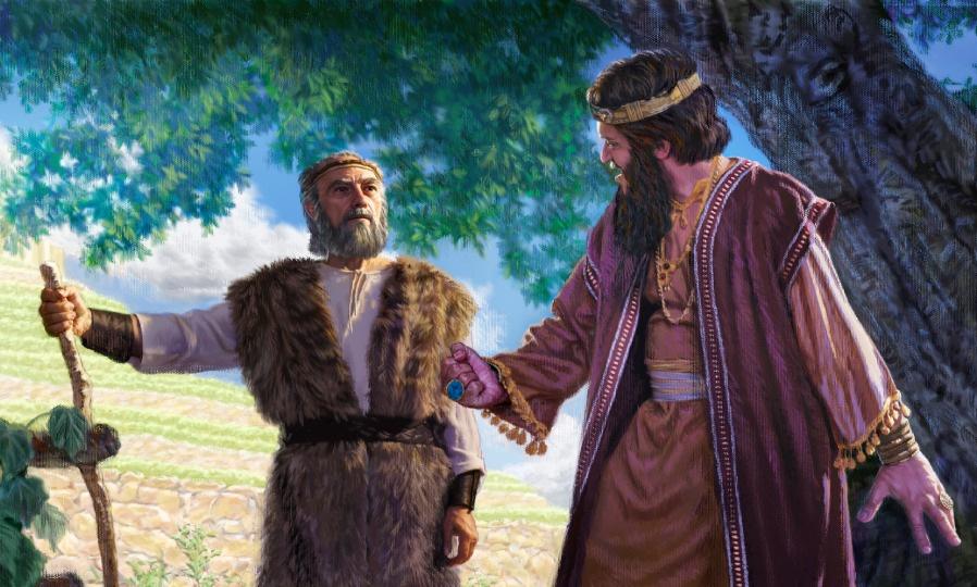 Elijah confronting Ahab after he took Naboth's Vineyard