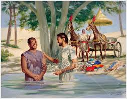 Philip baptizing the Ethiopian Eunch