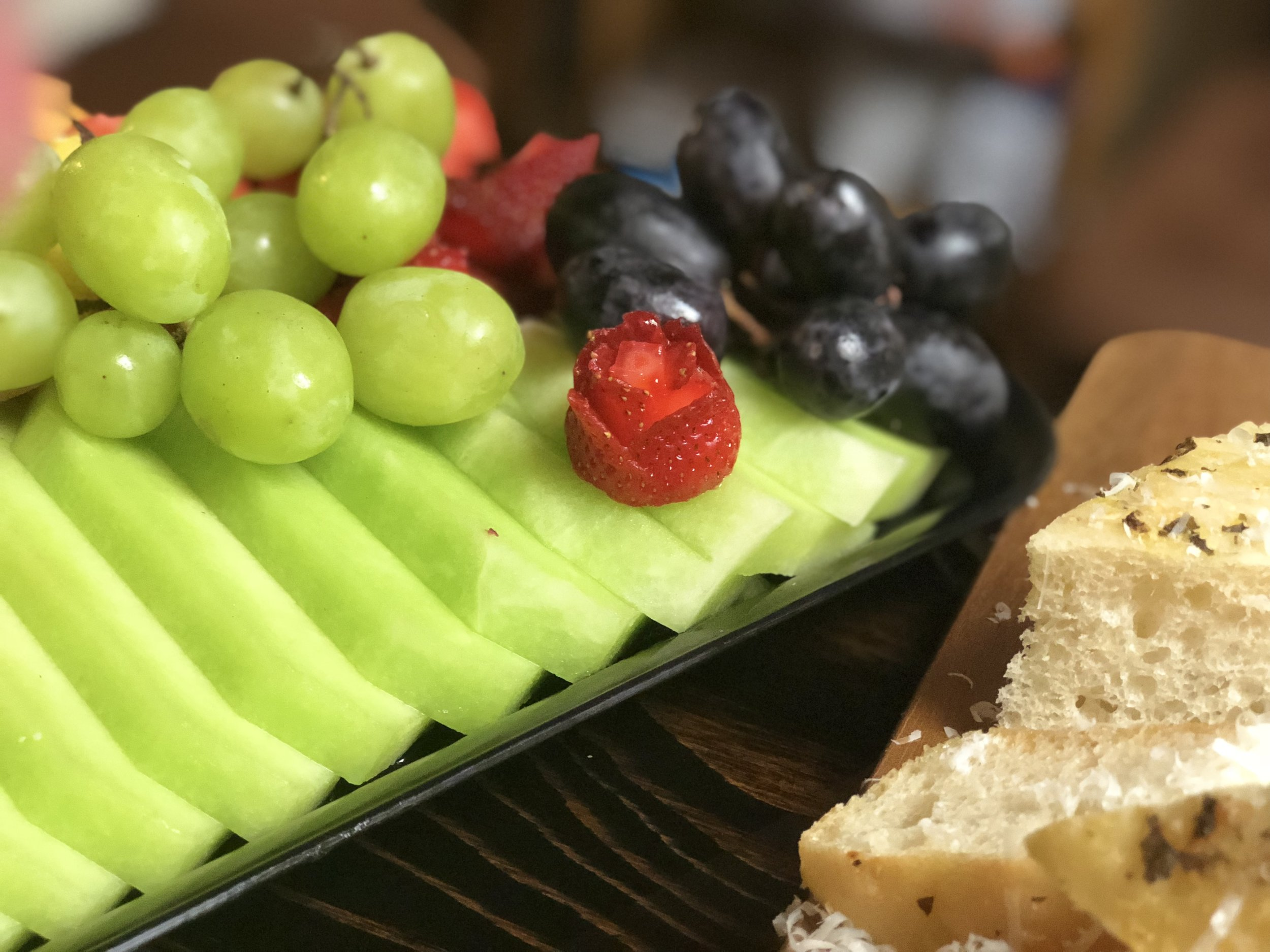 Sliced and Presented Fresh Fruit
