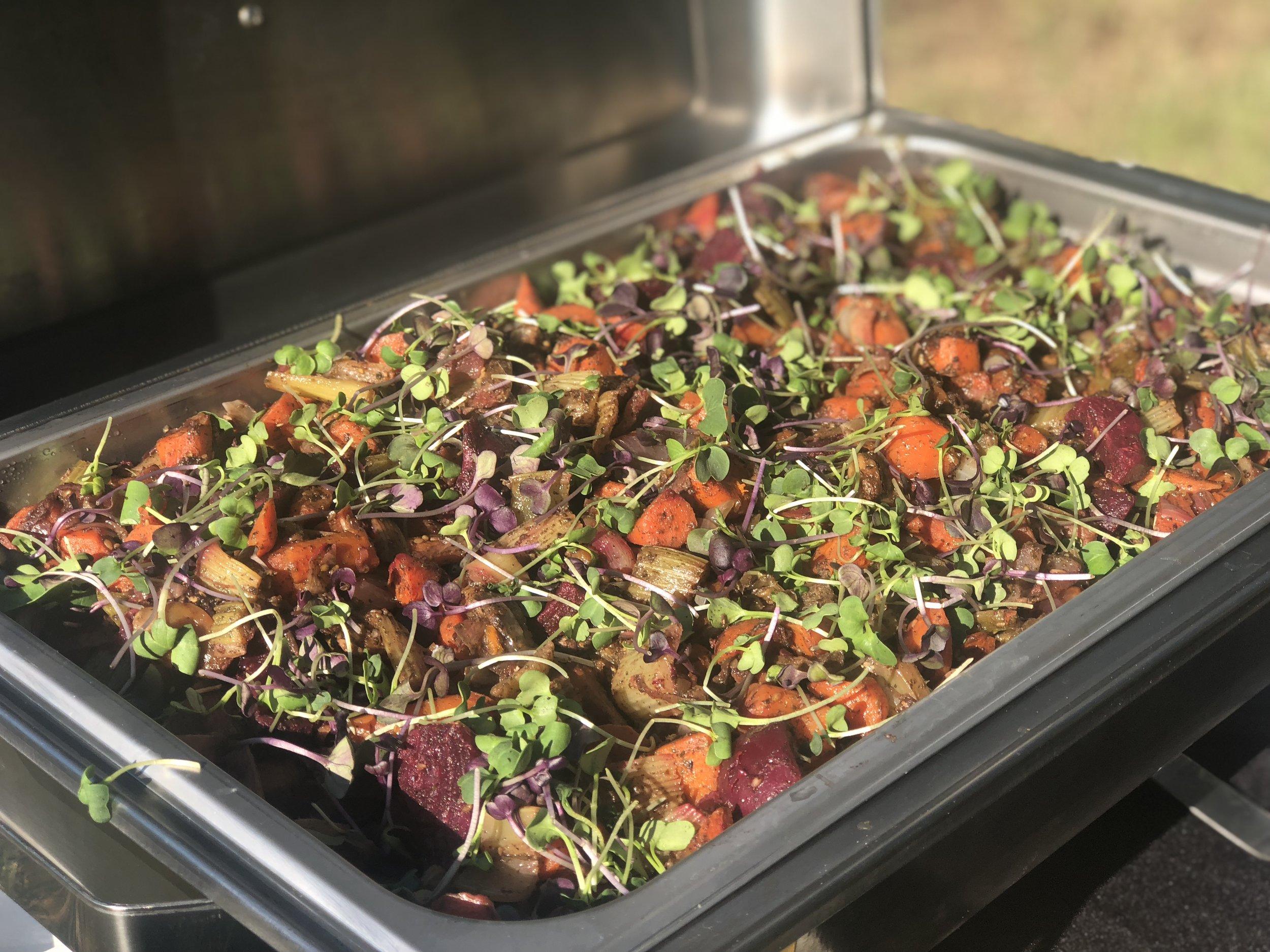 Zaatar roasted root vegetables