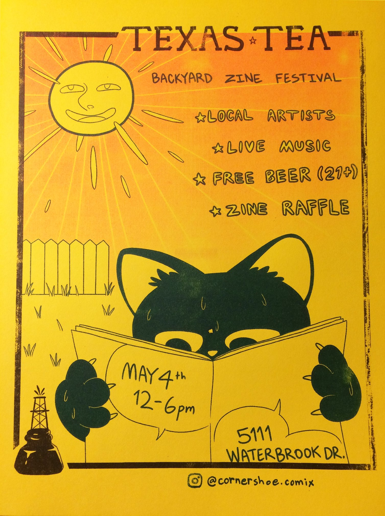 Texas Tea Backyard Zine Festival - Full lineup coming soon!              Wild Disguise will perform at 2pm. Information available in Live section
