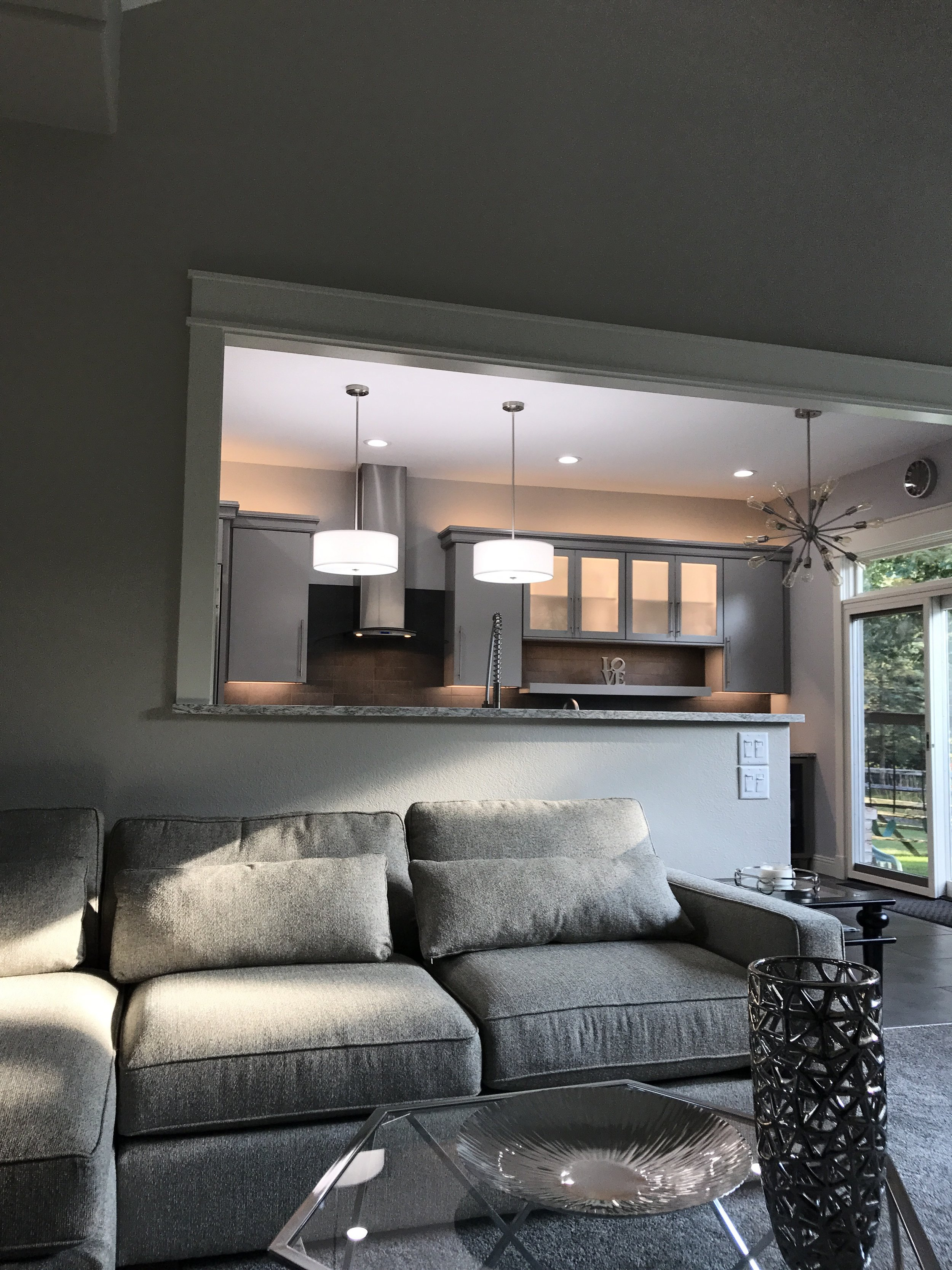 AFTER-Opening up the wall creates a perfect space for entertaining