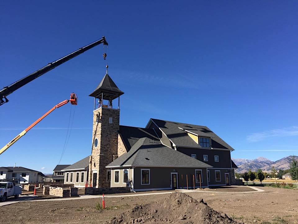 Finishing touches on a new build church in bozeman, MT