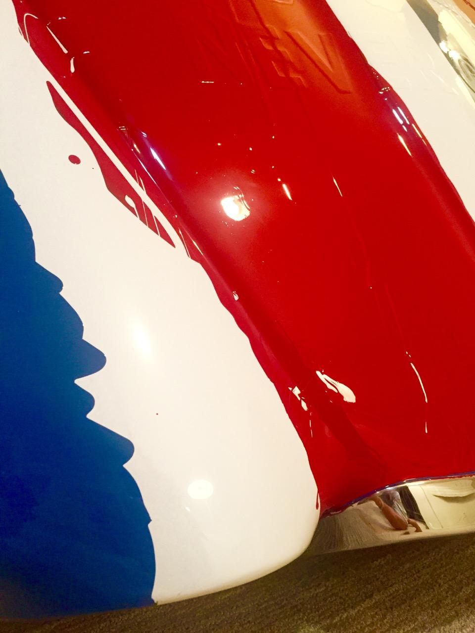 scott hughes art never give in jaguar hood british flag ferrari paint scheme