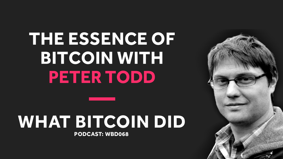 Peter Todd on the Essence of Bitcoin     JANUARY 29, 2019