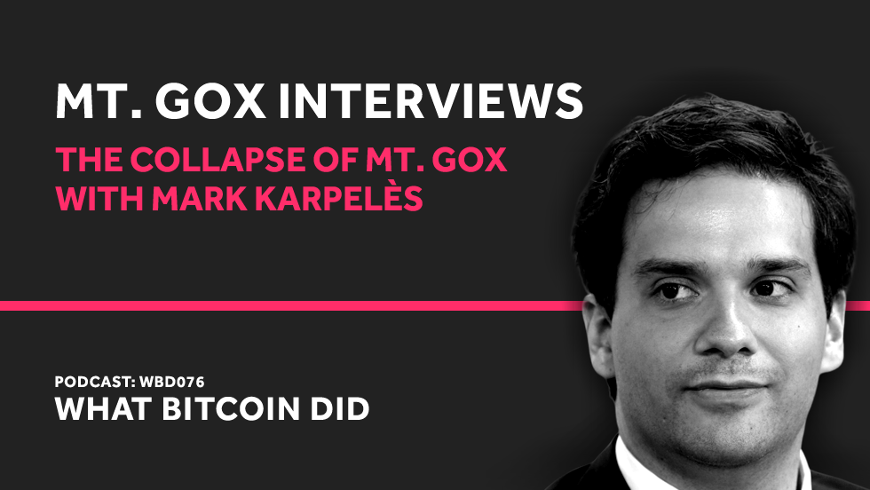 Mark Karpelès on the Collapse of Mt. Gox     FEBRUARY 19, 2019