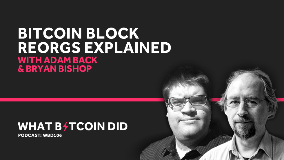 Bitcoin Block Reorgs Explained with Adam Back and Bryan Bishop     MAY 14, 2019