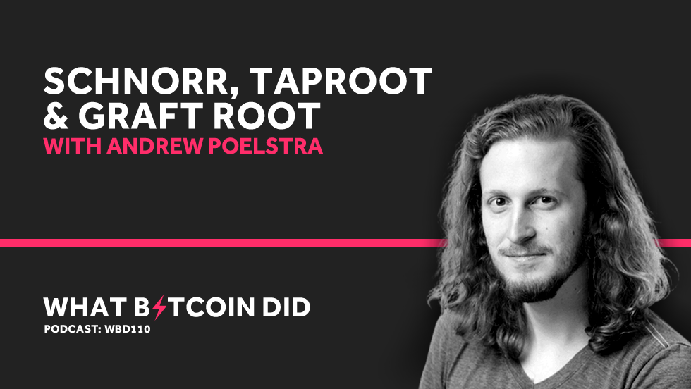 Andrew Poelstra on Schnorr, Taproot & Graft Root Coming to Bitcoin     MAY 24, 2019