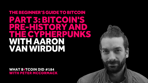 Part 3: Bitcoin's Pre-History and the Cypherpunks with Aaron van Wirdum